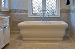 Soaking Tub with Special Tub Filler